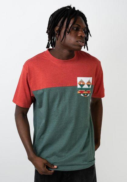 TITUS T-Shirts Ashook Pocket rostheather-petrolmottled vorderansicht 0320802