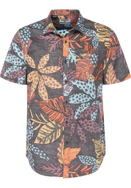 Billabong Hemden kurzarm Sundays Floral midnight Vorderansicht
