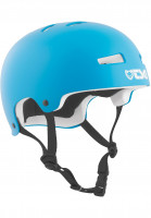 TSG Helme Evolution Kids Solid Color satin dark cyan-white EPS Vorderansicht