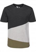 Rules T-Shirts Colorblockx darkgreymottled-heathergrey-olive Vorderansicht