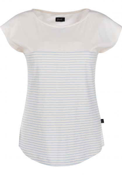 Forvert T-Shirts Noatak beige-blue vorderansicht 0399448
