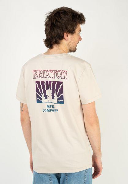 Brixton T-Shirts Heed beige vorderansicht 0324014