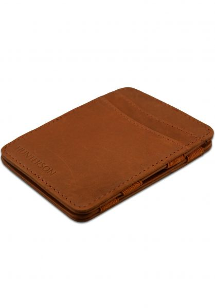 Hunterson Portemonnaie Magic Wallet RFID cognac vorderansicht 0781046