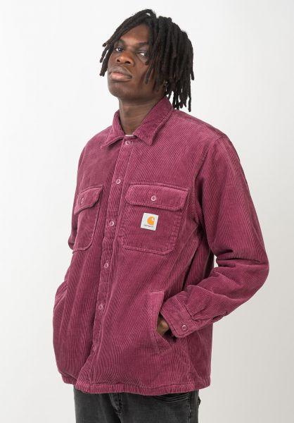 Carhartt WIP Übergangsjacken Whitsome Shirt Jac dustyfuchsia vorderansicht 0411945