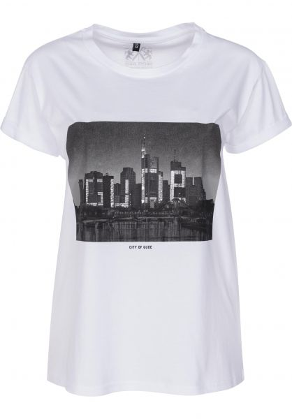 GUDE T-Shirts City of Gude W white vorderansicht 0399664