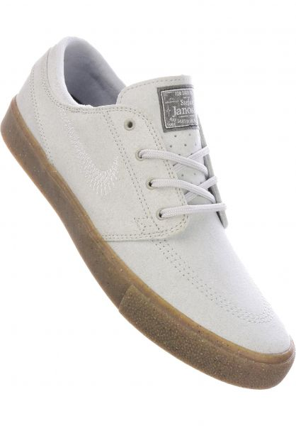 Nike SB Alle Schuhe Zoom Stefan Janoski Flyleather RM pureplatnium vorderansicht 0604783