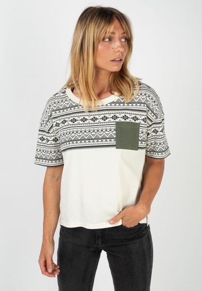 TITUS T-Shirts Nela offwhite-petrol vorderansicht 0320872