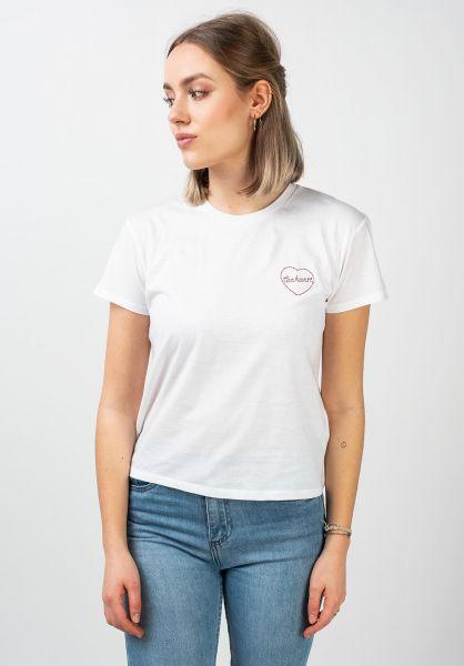 Carhartt WIP T-Shirts W´ Tilda Heart white-etnared vorderansicht 0321029