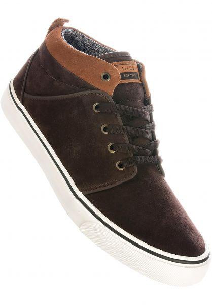 TITUS Alle Schuhe Hudson Mid darkbrown-brown-white vorderansicht 0604515