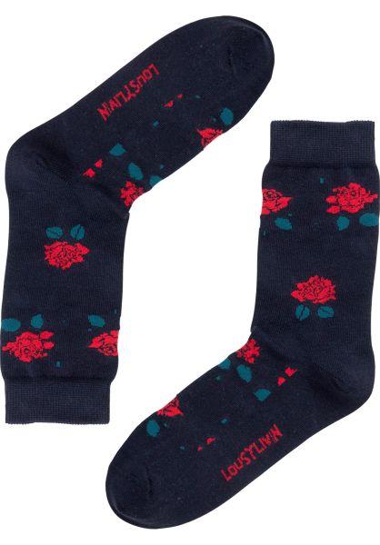 Lousy Livin Socken Rose black vorderansicht 0631789