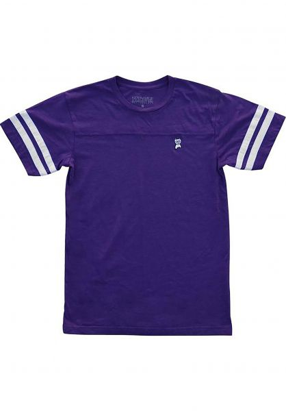 Meow Skateboards T-Shirts Embroided Jersey purple Vorderansicht