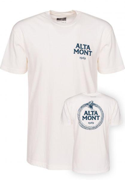 Altamont T-Shirts Snake A dirtywhite Vorderansicht