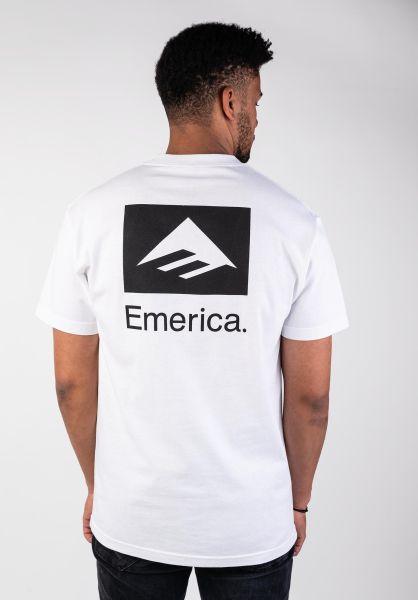 Emerica T-Shirts Brand Combo white-black vorderansicht 0396694