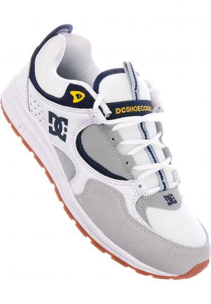 DC Shoes Alle Schuhe Kalis Lite white-grey-yellow Vorderansicht