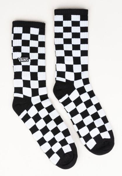 Vans Socken Checkerboard Crew II black-whitecheck vorderansicht 0631981