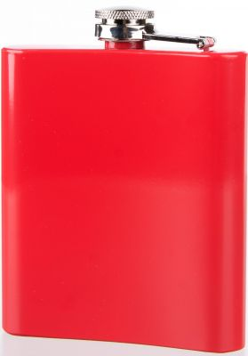 Chocolate Red Square Flask