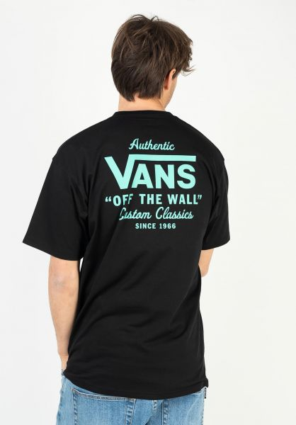 Vans T-Shirts Holder Street II black-waterfall vorderansicht 0399886