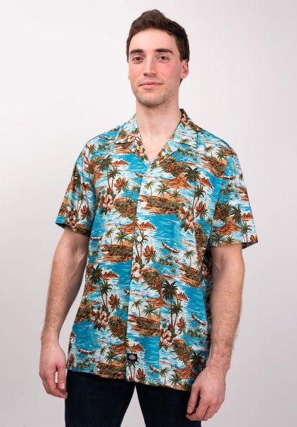Dickies Hemden kurzarm Blossvale ocean vorderansicht 0400869