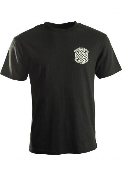 Independent T-Shirts Cross Check black Vorderansicht