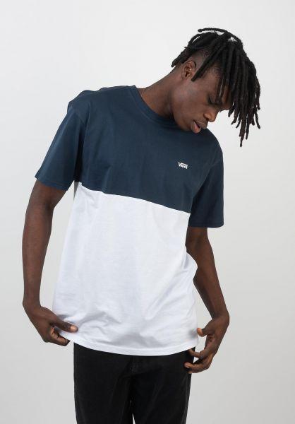 Vans T-Shirts Colorblock dressblues-white vorderansicht 0397884