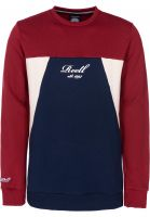 Reell Sweatshirts und Pullover Color Block Crew red-navy-cream vorderansicht 0422651