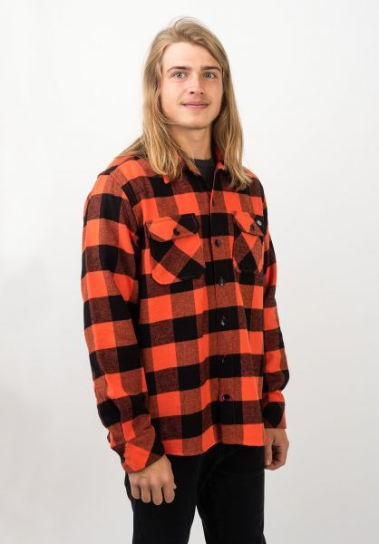 Dickies Hemden langarm Sacramento orange vorderansicht 0411126