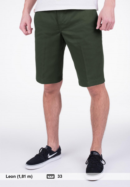 "Dickies Chinoshorts 11"" Slim Straight Work olive-green Vorderansicht"