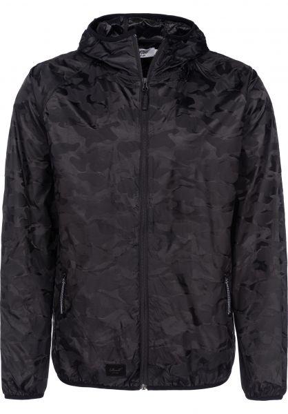 Reell Übergangsjacken Pack Logo Jacket black-camo vorderansicht 0504216