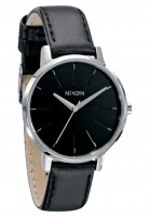 Nixon Uhren The Kensington Leather black Vorderansicht