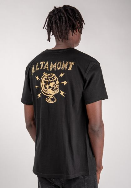 Altamont T-Shirts Global black vorderansicht 0383228