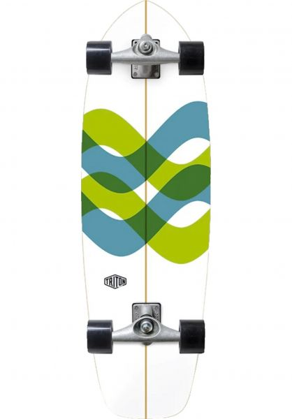 "Triton Skateboards Cruiser komplett Signal CX Surfskate 31"" white-multi vorderansicht 0252893"