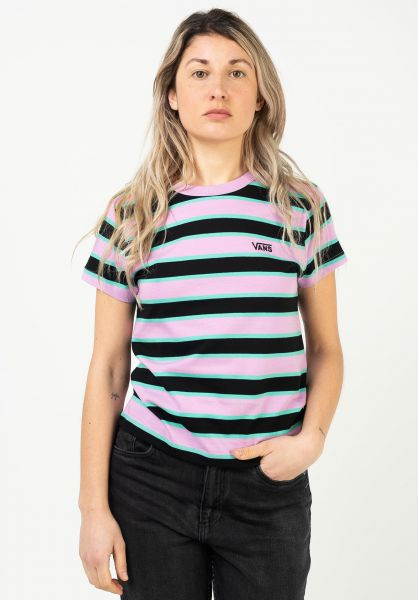 Vans T-Shirts Big Stripe black vorderansicht 0322945