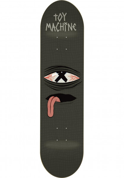 Toy-Machine Skateboard Decks Crossed Out black Vorderansicht