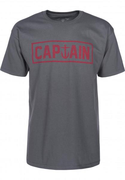 Captain Fin T-Shirts Naval Captain Standard charcoal Vorderansicht