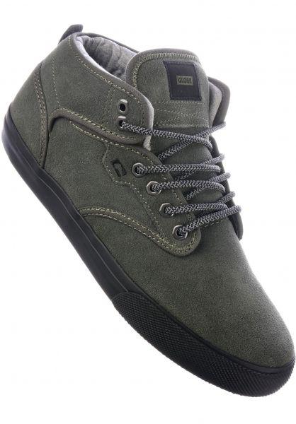 Globe Alle Schuhe Motley Mid Winter dustyolive-black Vorderansicht