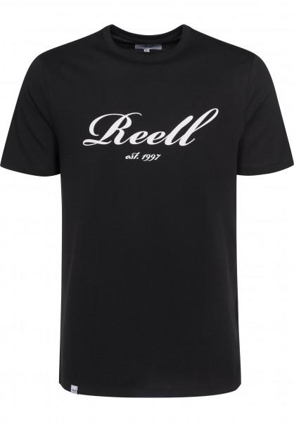 Reell T-Shirts Big Script black Vorderansicht
