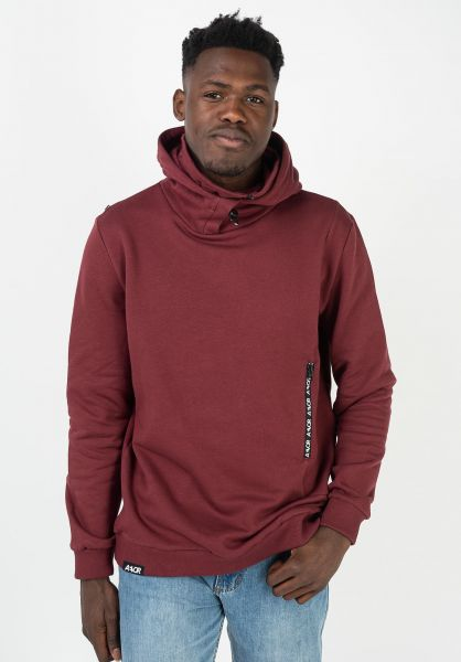 AEVOR Hoodies Heavy Hood oxblood-red vorderansicht 0445971