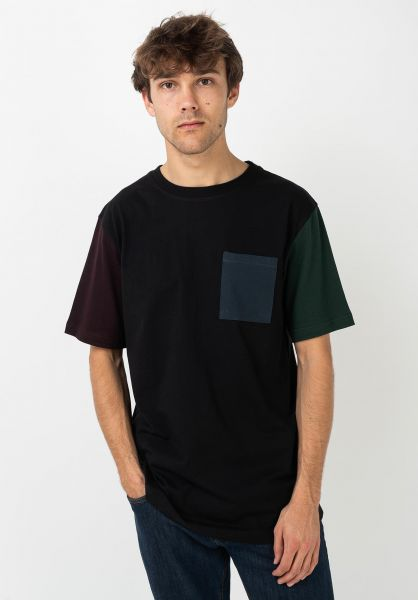 iriedaily T-Shirts Nomadic Pocket black vorderansicht 0322370