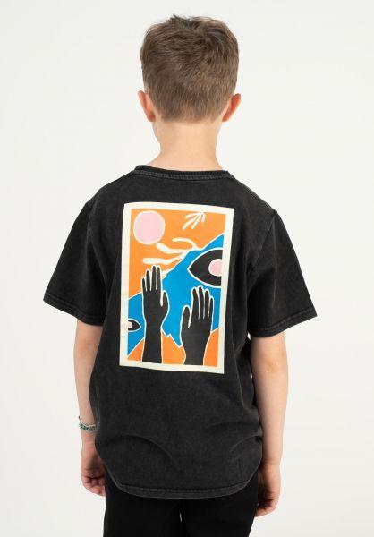 TITUS T-Shirts Bautista Kids black-acidwashed vorderansicht 0322726