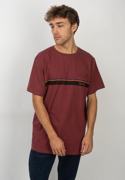 Rip Curl T-Shirts Mama Skyline darkred vorderansicht 0320632