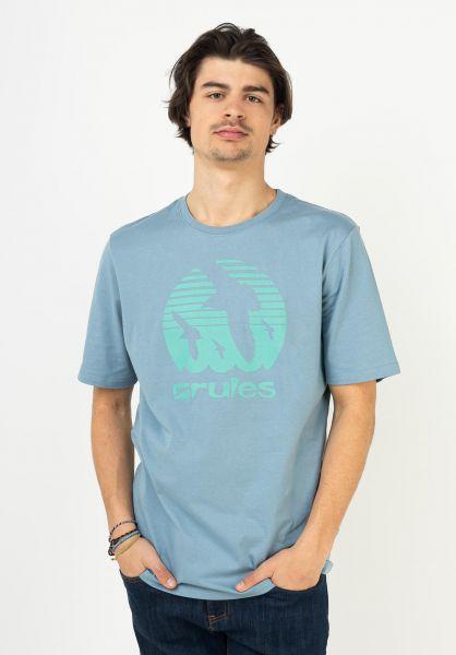 Rules T-Shirts Doves bluegrey vorderansicht 0395410
