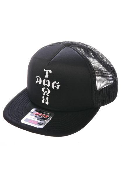 Dogtown Caps Cross Letter Mesh Cap black vorderansicht 0560796