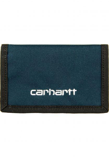 Carhartt WIP Portemonnaie Payton Wallet duckblue-white vorderansicht 0781005