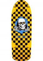Powell-Peralta Skateboard Decks OG Ripper black-yellow-checked Vorderansicht