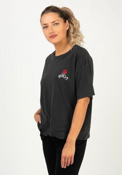 RVCA T-Shirts Petite Rose washedblack vorderansicht 0322258