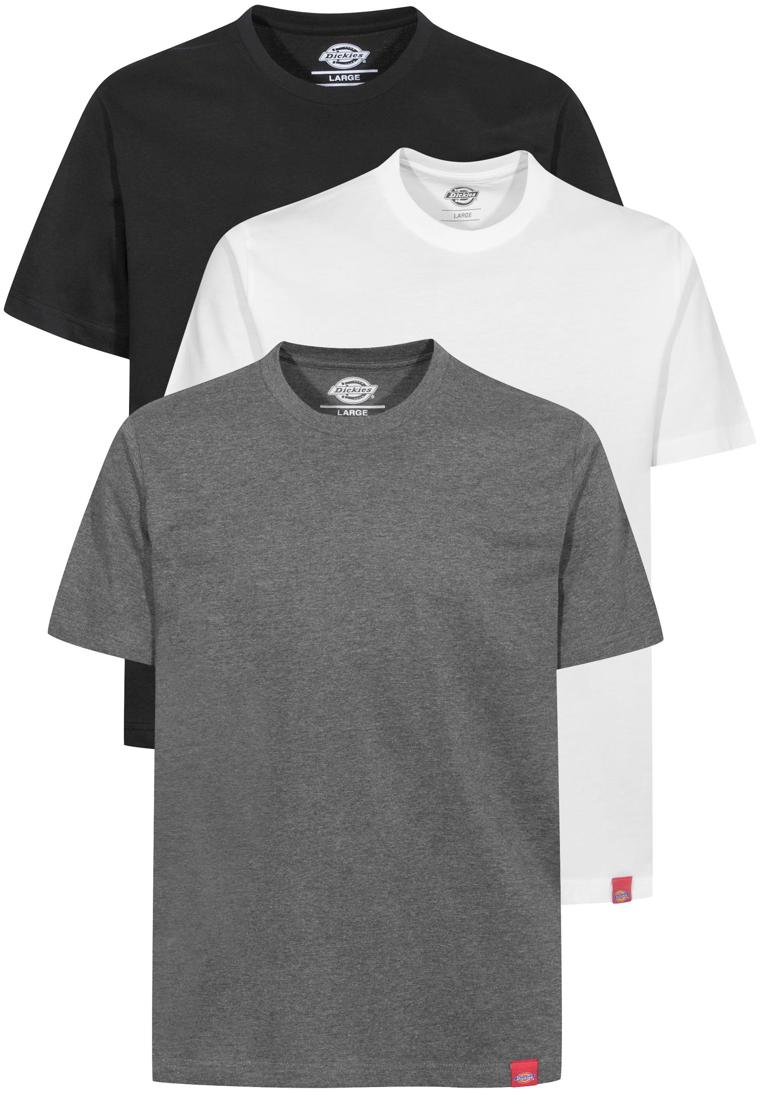 Multi Color T Shirt 3er Pack Dickies T Shirts in black grey white