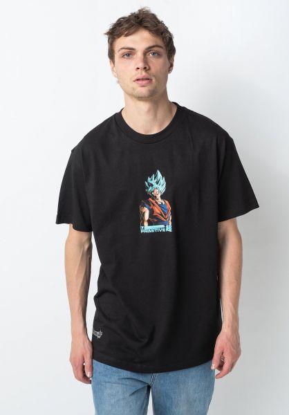 Primitive Skateboards T-Shirts x DBZ Shadow Goku black vorderansicht 0322229