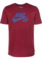 Nike SB T-Shirts DFT Icon Logo teamred-deeproyal Vorderansicht