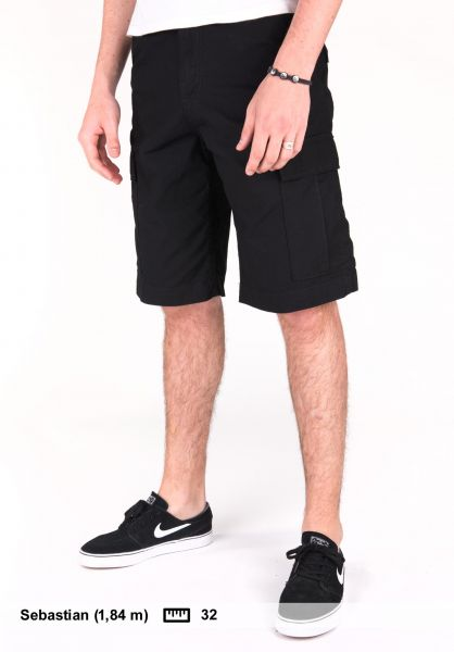 Carhartt WIP Shorts Regular Cargo Short blackrinsed Vorderansicht