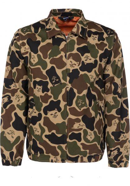 7fdc4971d1 Rip N Dip Übergangsjacken Nermal Camo Cotton Coach Jacket army-camo  Vorderansicht